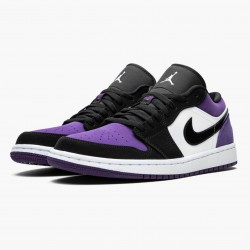 "Air Jordan 1 Low ""Court Purple"" 553558 125 White/Black-Court Purple AJ1 Jordan"