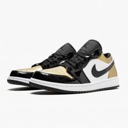 "Air Jordan 1 Low ""Gold Toe"" CQ9447 700 Black/Gold-Black AJ1 Jordan"