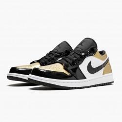 "Air Jordan 1 Low ""Gold Toe"" CQ9447 700 Black/Gold-Black AJ1 Jordan"