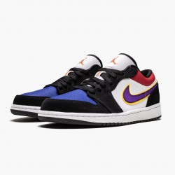 "Air Jordan 1 Low ""Lakers Top 3"" CJ9216 051 Black/Field Purple-White AJ1 Jordan"