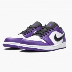 "Air Jordan 1 Retro Low ""Court Purple"" 553558 500 Court Purple/Black-White AJ1 Jordan"