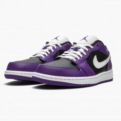 "Air Jordan 1 Retro Low ""Court Purple"" 553558 501 Court Purple/White-Black AJ1 Jordan"
