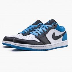 "Air Jordan 1 Retro Low ""Laser Blue"" CK3022 004 Black/Black-Laser Blue-White AJ1 Jordan"