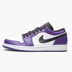 "Air Jordan 1 Retro Low ""Court Purple"" 553558 500 Court Purple/Black-White AJ1 Jordan"