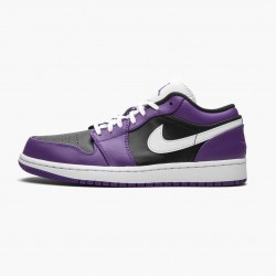 "Air Jordan 1 Retro Low ""Court Purple"" 553558 501 Court Purple/White-Black AJ1 Jordan"