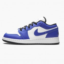 "Air Jordan 1 Retro Low ""Game Royal"" 553560 124 White/Game Royal-Black AJ1 Jordan"