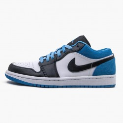 "Air Jordan 1 Retro Low ""Laser Blue"" CK3022 004 Black/Black-Laser Blue-White AJ1 Jordan"