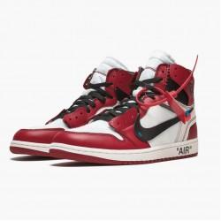"Air Jordan 1 Retro High ""Off-White Chicago"" AJ1 AA3834 101 White/Black-Varsity Red Jordan"