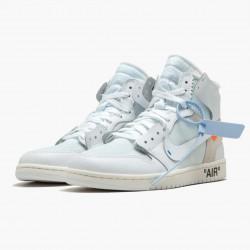"Air Jordan 1 Retro High ""Off-White White"" AJ1 AQ0818 100 White Jordan"