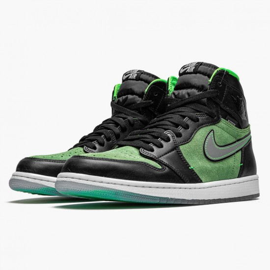 Air Jordan 1 Retro High Zoom Zen Green AJ1 CK6637 002 Black/Black-Tomatillo-Rage-Gre Jordan