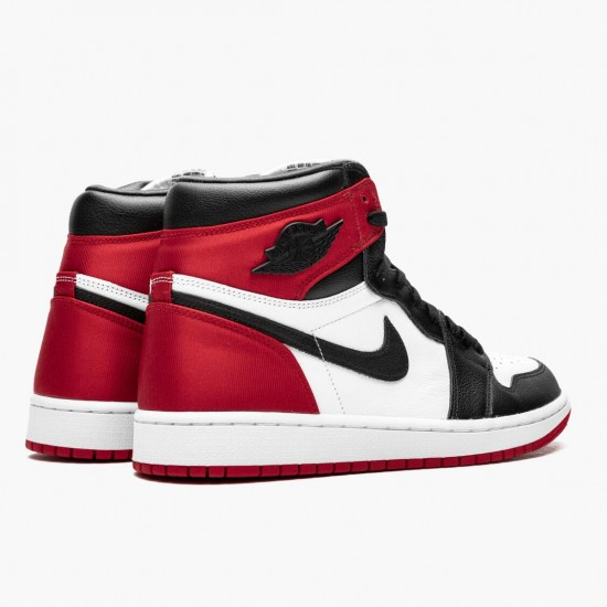 Air Jordan 1 High OG Satin Black Toe Black/Black-White-Varsity Red CD0461 016 AJ1 Jordan