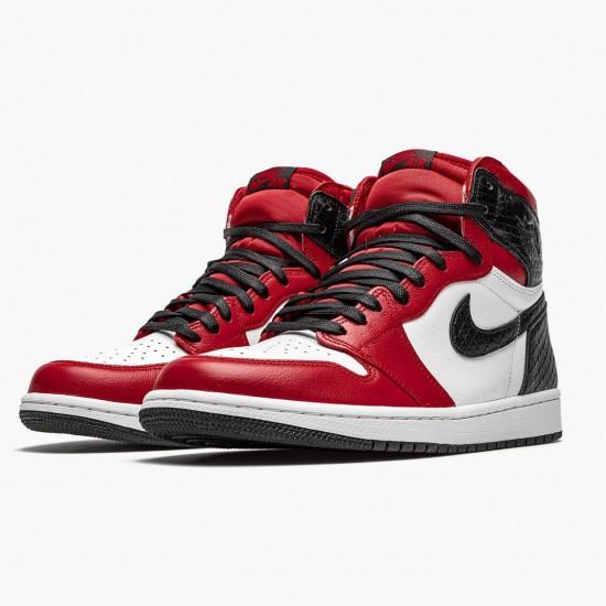 Air Jordan 1 High Retro WMNS Satin Snake Gym Red/Whte-Black CD0461 601 AJ1