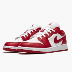 "Air Jordan 1 Low ""Gym Red/White"" Gym Red/Gym-Red Whte 553560 611 AJ1"