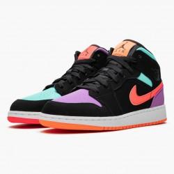 """Air Jordan 1 Mid """"Candy"""" Black/Total Orange 554725 083 AJ1 Jordan"""