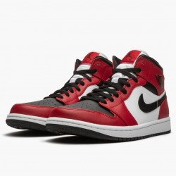 "Air Jordan 1 Mid ""Chicago Black Toe"" Black/Gym Red-White 554724 069 AF1"