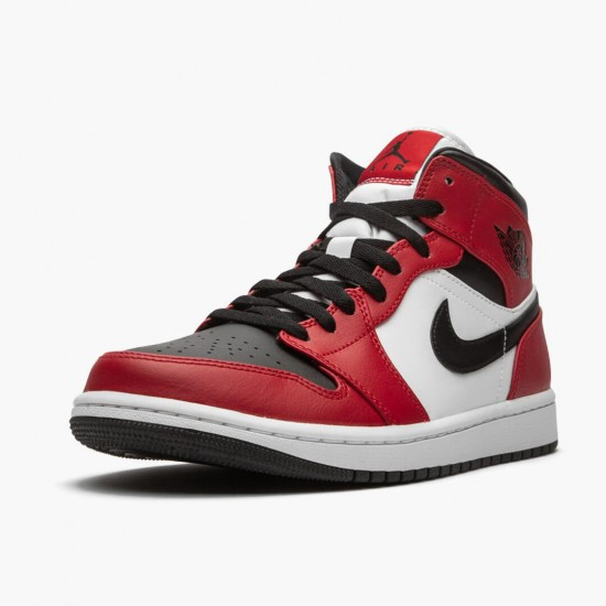 Air Jordan 1 Mid Chicago Black Toe Black/Gym Red-White 554724 069 AF1