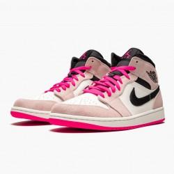 "Air Jordan 1 Mid ""Crimson Tint"" Crimson Tint/Hyper Pink-Black 852542 801 AJ1"