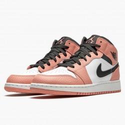 """Air Jordan 1 Mid """"Pink Quartz"""" Pink Quartz/DK Smoke Grey 555112 603 AJ1"""