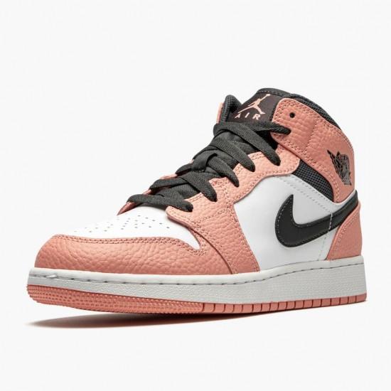 Air Jordan 1 Mid Pink Quartz Pink Quartz/DK Smoke Grey 555112 603 AJ1
