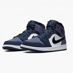 "Air Jordan 1 Mid ""Sanded Purple"" Obsidian/Sanded Purple/White 554724 445 AJ1 Jordan"