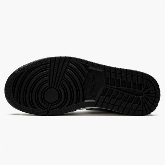 Air Jordan 1 Mid Satin Grey Toe Black/Anthracite-Sail 852542 011 AJ1