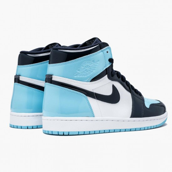 "Air Jordan 1 Retro High Og ""Blue Chill"" Obsidian/Blue Chill-White CD0461 401 AJ1"