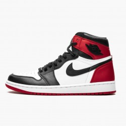 "Air Jordan 1 High OG ""Satin Black Toe"" Black/Black-White-Varsity Red CD0461 016 AJ1 Jordan"