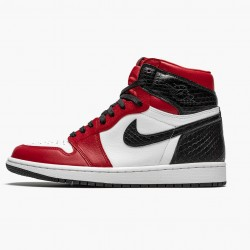 "Air Jordan 1 High Retro WMNS ""Satin Snake"" Gym Red/Whte-Black CD0461 601 AJ1"