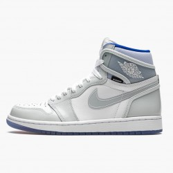 "Air Jordan 1 High Zoom ""Racer Blue"" White/White-Racer Blue AJ1 CK6637 104"