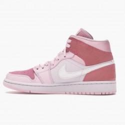"""Air Jordan 1 Mid """"Digital Pink"""" Digital Pink/White-Pink Foam-Sail CW5379 600 Womens AJ1 Jordan"""