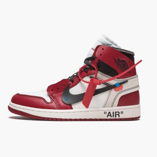 Air Jordan 1 Retro High Off-White Chicago AJ1 AA3834 101 White/Black-Varsity Red Jordan