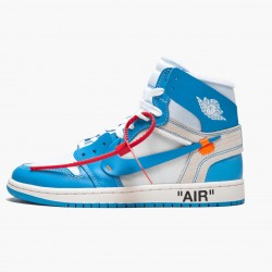 "Air Jordan 1 Retro High Off-White ""University Blue"" AJ1 AQ0818 148 White/Dark Powder Blue-Cone Jordan"