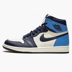 "Air Jordan 1 Retro High OG ""Obsidian/University Blue"" 555088 140 AJ1"
