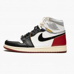 "Air Jordan 1 Retro High ""Union Los Angeles Black Toe"" BV1300 106 White/Black-Varsity Red AJ1 Black Jordan"