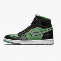 "Air Jordan 1 Retro High Zoom ""Zen Green"" AJ1 CK6637 002 Black/Black-Tomatillo-Rage-Gre Jordan"