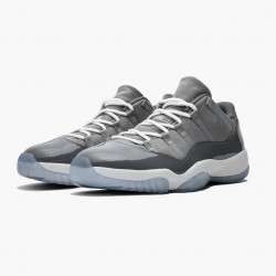 "Air Jordan 11 Low ""Cool Grey"" 528895 003 Medium Grey/White-Gunsmoke AJ11 Black Jordan"