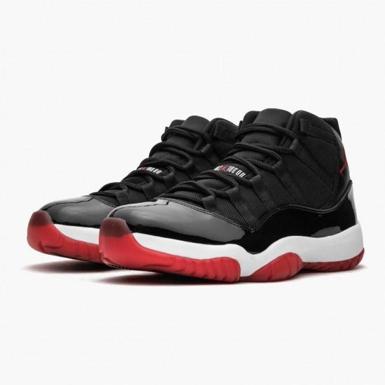 Air Jordan 11 Retro Bred 378037 010 Black/Varsity Red-White AJ11 Black Jordan