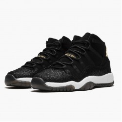 "Air Jordan 11 Retro ""Heiress Black Stingray"" 852625 030 Black/Metallic Gold-White AJ11 Black Jordan"