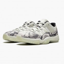 "Air Jordan 11 Retro Low ""Snake Light Bone"" CD6846 002 Light Bone/Smoke Grey/White-Bl AJ11 Black Jordan"