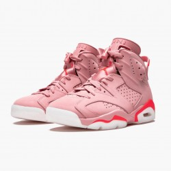 "Air Jordan 6 Retro ""Aleali May"" WMNS CI0550 600 Rust Pink/Bright Crimson AJ6 Black Jordan"