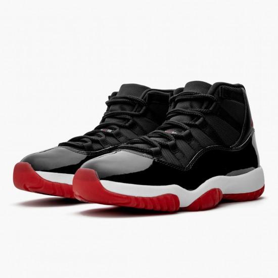 "Air Jordan 11 Retro Bred"" 2019 Black/White/Varsity-Red 378037 061 AJ11"