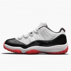 "Air Jordan 11 Low ""Concord Bred"" White/University Red-Black-Tru AJ11 AV2187 160"