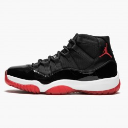 "Air Jordan 11 Retro ""Bred"" 378037 010 Black/Varsity Red-White AJ11 Black Jordan"