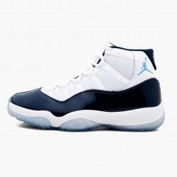 """Air Jordan 11 Retro UNC """"Win Like 82"""" 378037 123 White/University Blue AJ11 Black Jordan"""