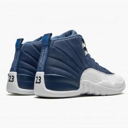 "Air Jordan 12 Retro ""Indigo"" AJ12 130690 404 Stone Blue/Legend Blue-Obsidia Jordan"