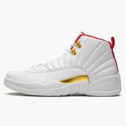 "Air Jordan 12 Retro ""FIBA"" AJ12 130690 107 White/University Red/Metallic Jordan"