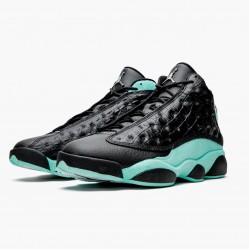 "Air Jordan 13 Retro ""Island Green"" Black/Island Green/Metallic Si 414571 030 AJ13 Jordan"