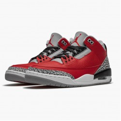 "Air Jordan 3 Retro ""Fire Red Cement"" CU2277 600 Varsity Red AJ3 Jordan"