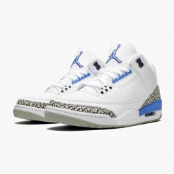 "Air Jordan 3 Retro ""UNC"" CT8532 104 White/Valor Blue-Tech Gray AJ3 Jordan"