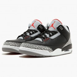 "Air Jordan 3 Retro OG ""Black/Cement"" Black/Fire Red-Cement Grey 854262 001 Aj3"